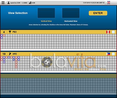 screenshoot panel pilih arena