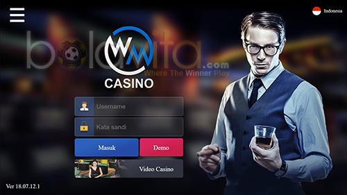 screenshoot tampilan wmcasino