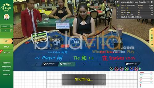 tampilan panel bet casino gd88