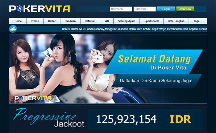tampilan situs pokervita