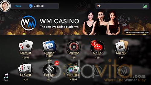 wm casino pilih games